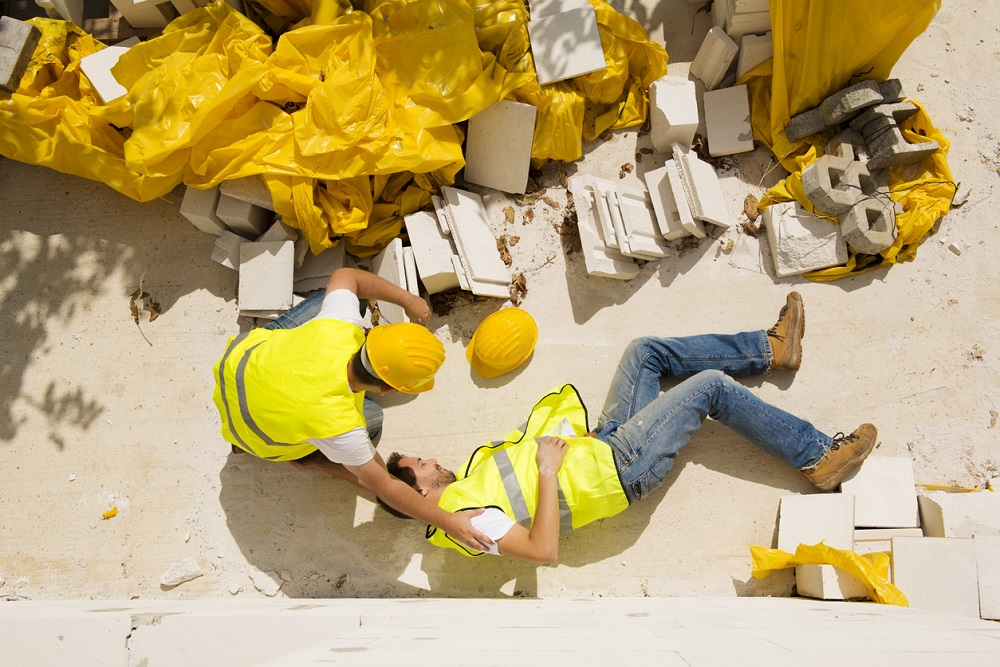 Common types of construction site accidents.