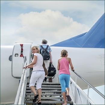 Airplane Stairs Injury